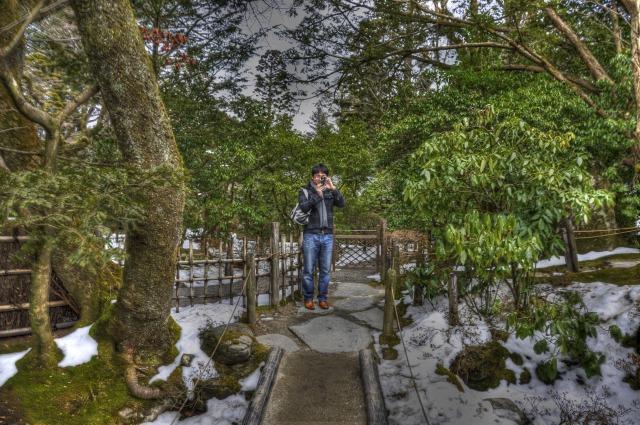 江戸時代の日本庭園「逍遥園」友人