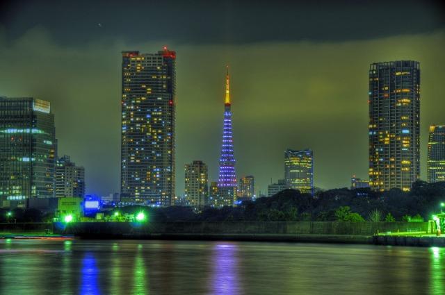 東京タワー@隅田川(勝どき)